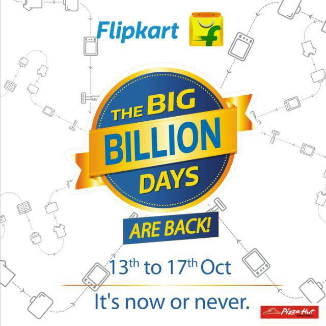 Flipkart's Big Billion Sale Starts 13th October 2015 Huge Benefit For App Users