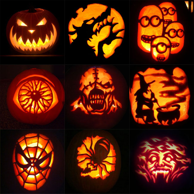 Halloweens day 2017 activities party themes pumpkin Pumpkin carving designs photos