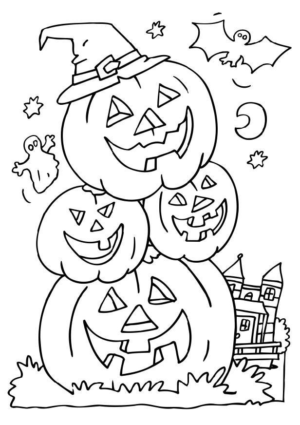 Halloweens Day Drawings To Print