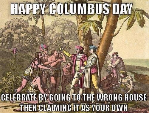 Happy Columbus Day Greetings Celebration
