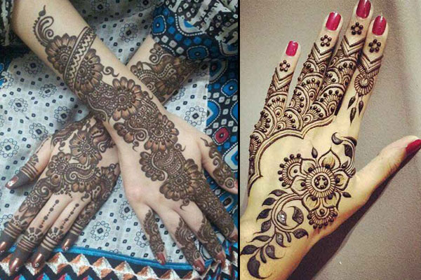 Nowadays The Bridal Mehndi Is Modified By Adding Swarovski Crystals And Glitters