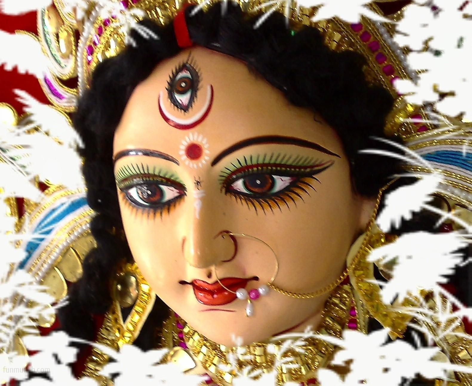 Maha Ashtami Mahagauri face photos