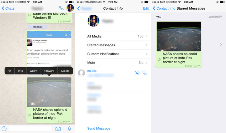 New Feature : Whatsapp For iOS Now Users Can Bookmark Chat