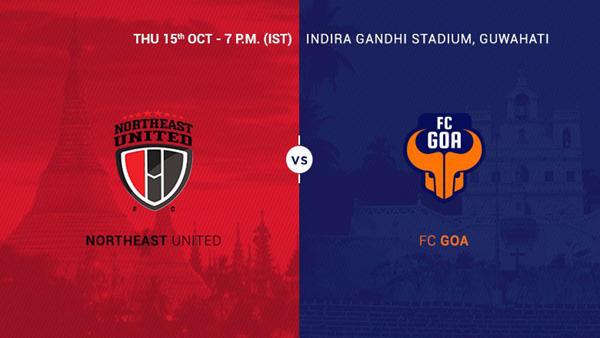 North East vs Goa 12th Match Live Streaming Score Result Winner ISL 2015