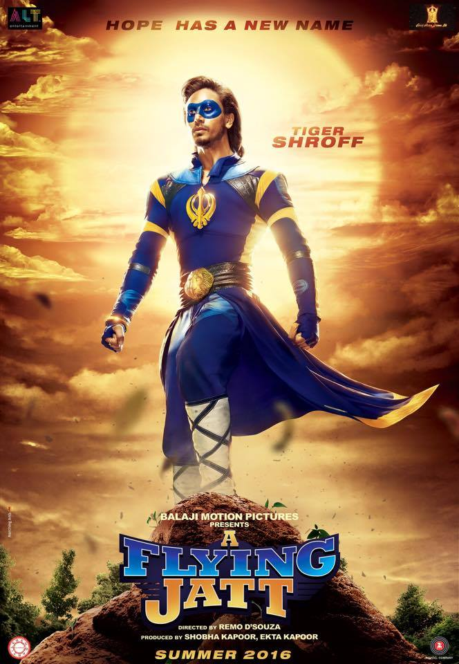 Released Tiger Shroff Flying Jatt First Look Poster