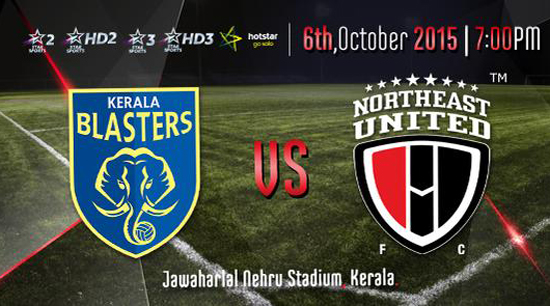 Watch ISL 2015 Kerala Vs NorthEast 4th Match Live Stream Score Result Winner Prediction