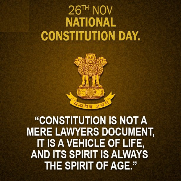 26th Nov Constitution Day Of India