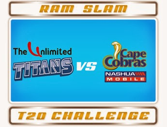 Ram Slam 2015 Cobra vs Titans Match 17 Live Stream Score Result Winner Prediction