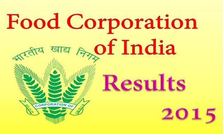 FCI Final Result 2015 Category 3 Declared for South North-East and West Zones