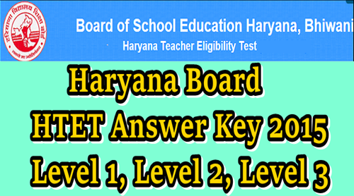Haryana TET HTET 15 NOV Question paper with Answer Key 2015