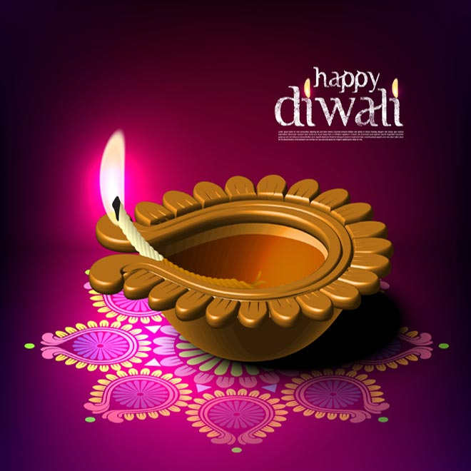 Happy-Diwali-Diya-burning