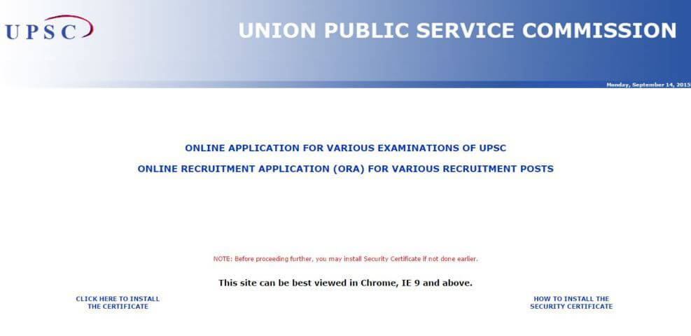 UPSC Civil Services Mains Exam 2015 Application Form Available At upsc.gov.in