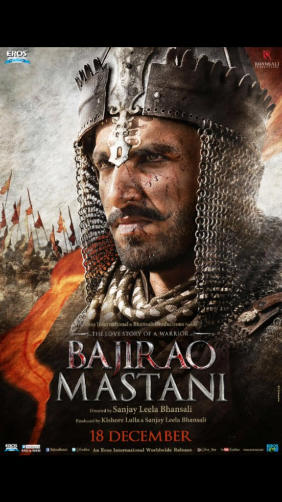 Released First Look Poster Of Ranveer Singh From Bajirao Mastani Movie