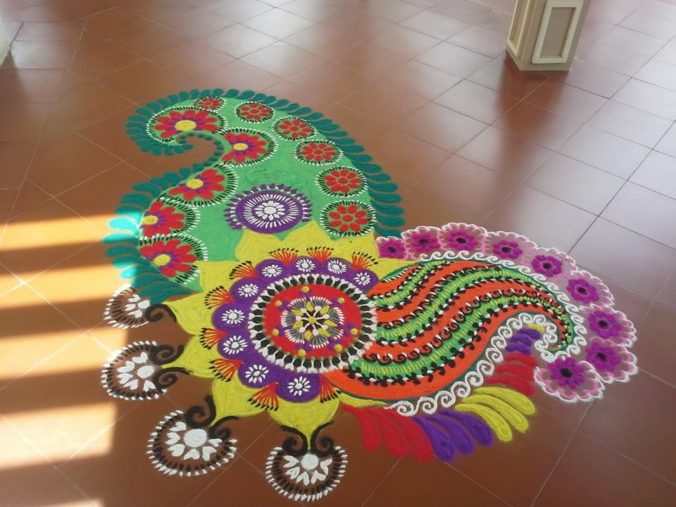 beautiful diwali rangoli 2015