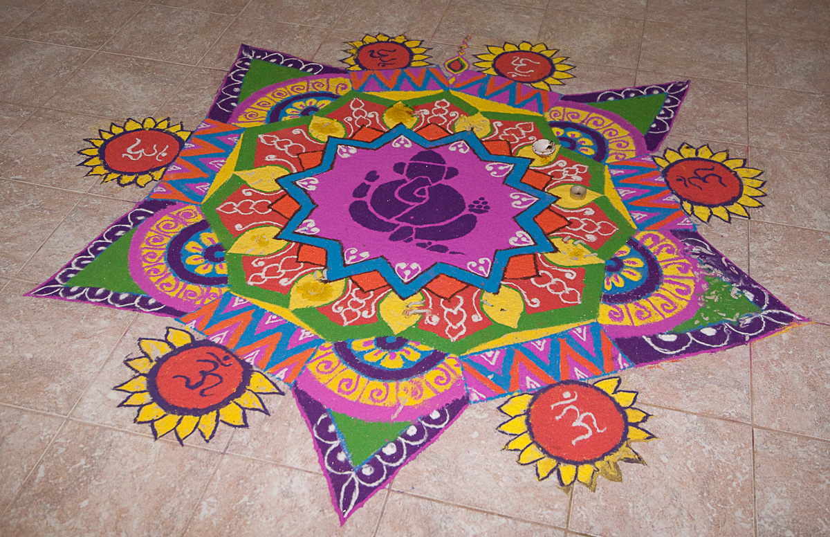 2017 happy diwali rangoli designs peacock patterns for Floor rangoli design
