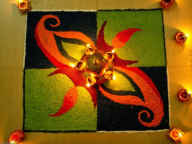 #2017 Happy Diwali Rangoli Designs Peacock Patterns ...