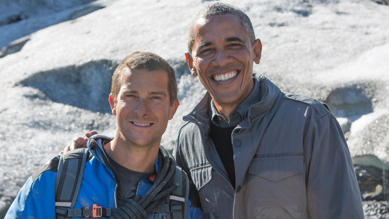Discovery New Year Special President Barack Obama With Bear Grylls At Running Wild