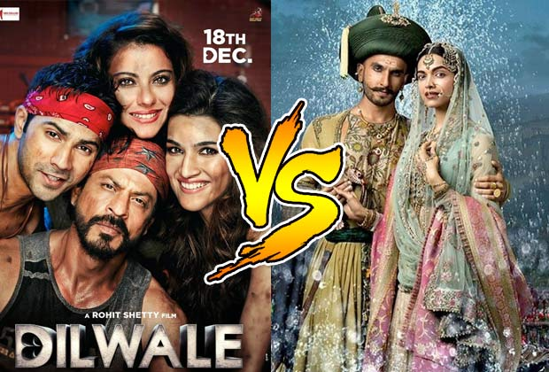 Massive Clash B/W Movies Dilwale Vs Bajirao Mastani Record Box Office Collection
