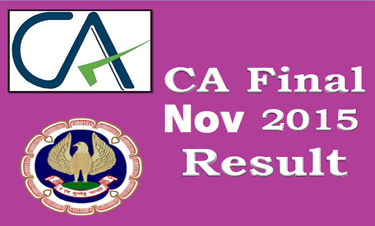 ICAI Result 2016!! Check CA CPT FINAL November 2015 Exam Result @ caresults.nic.in