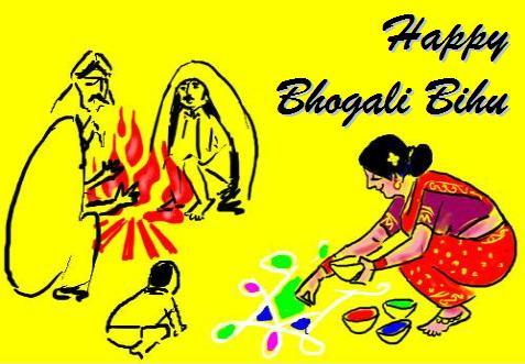 Happy Bhogali Magh Bihu Wishing Photos