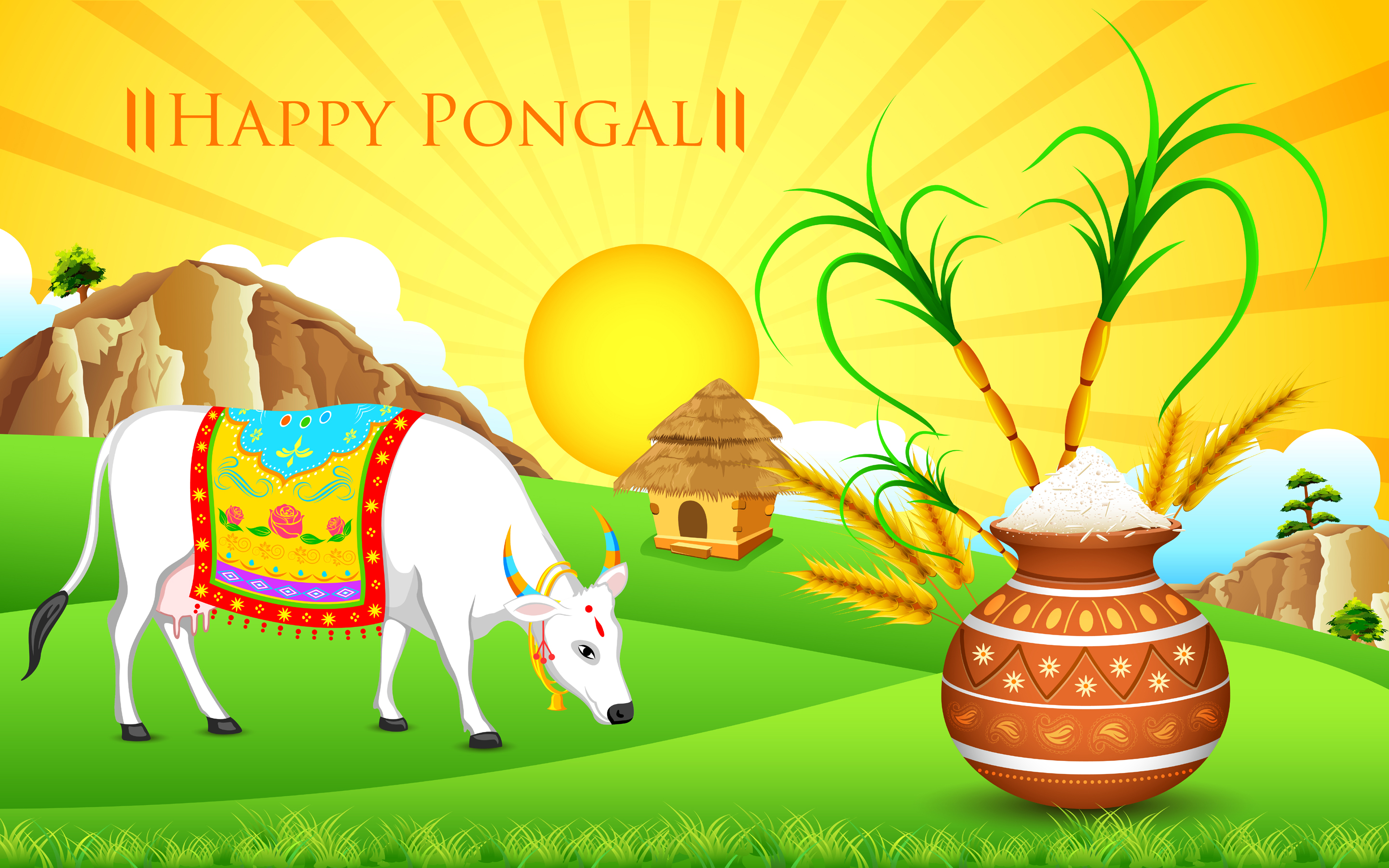 Happy Thai Pongal Messages Wishes HD Images Photos Videos Whatsapp Status FB DP 2016