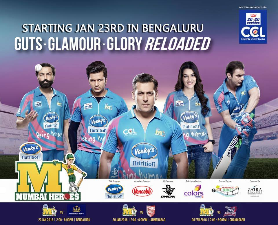 Salman Khan Is Brand Ambassador Of Mumbai Heroes in ccl 6