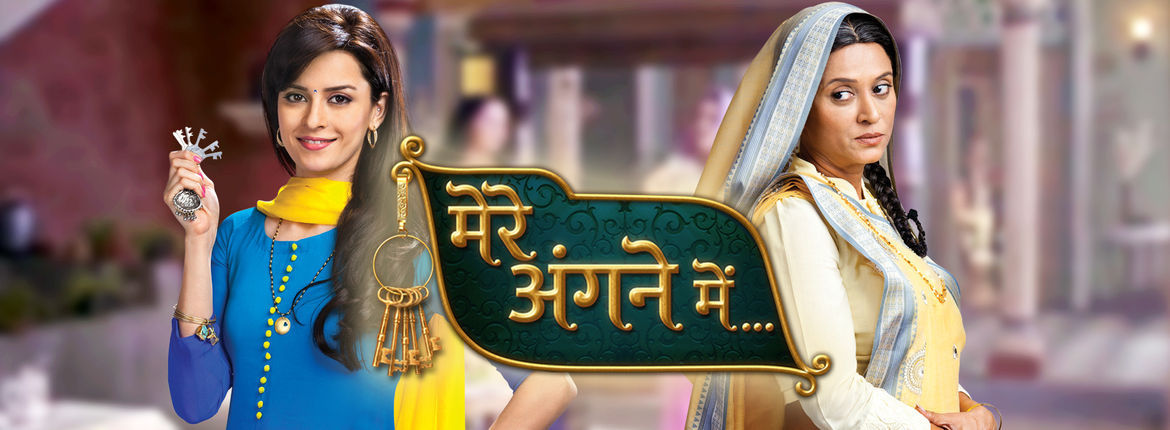 Shanti asks Riya about Chandrahaar! Mere Angne Mein 25th February 2016 Written Updates