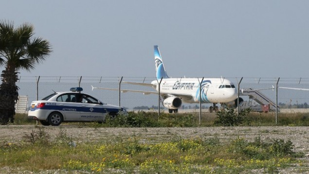 Egyptian Jet Hijacked: To land in Lankara include 8 British and 10 Americans among 80 peoples