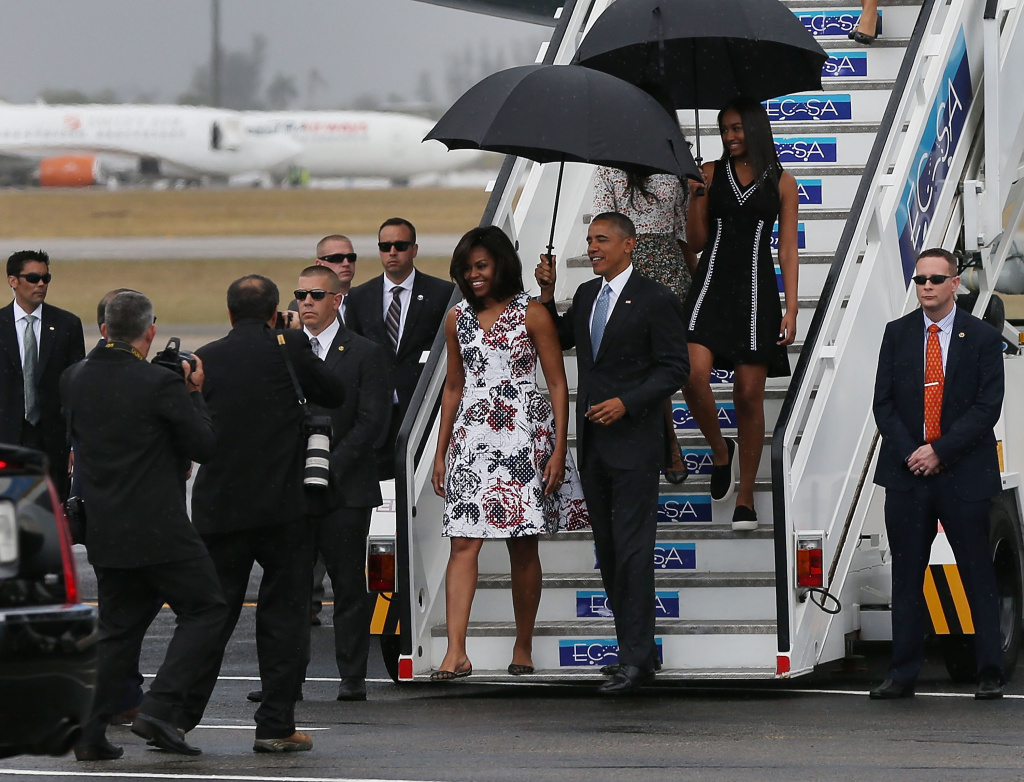 Barack Obama Tours Old Havana: First American President to set foot in Cuba for NINE DECADES