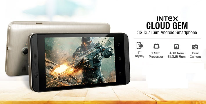 Intex Cloud Gem+ Smartphone Full Features Specs Price