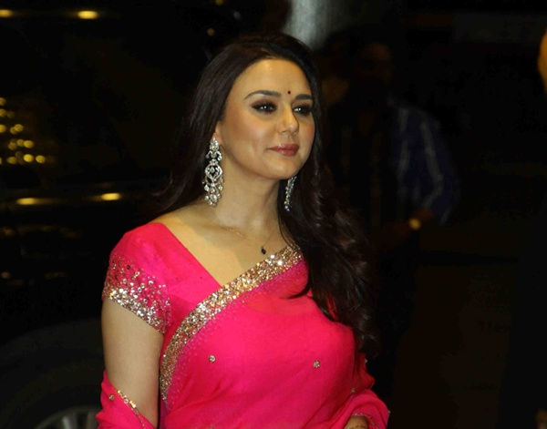 Mumbai: Actress Preity Zinta during Bollywood actor Shahid Kapoor wedding reception in Mumbai, on July 12, 2015. (Photo: IANS)
