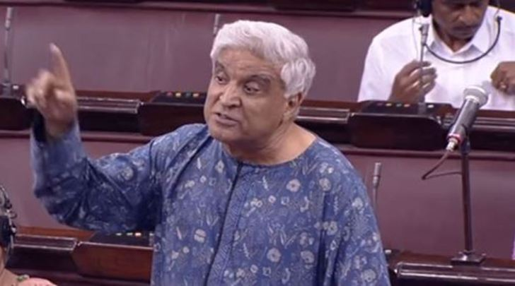Javed Akhtar slams AIMIM Chief Owaisi, chants 'Bharat Mata ki jai' in Rajya Sabha