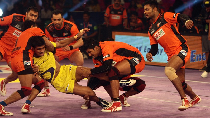 Watch U Mumba vs Telugu Titans Match 54 Live Score Highlights Results from Pro Kabaddi League 2016