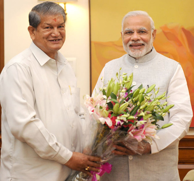 modi vs harish rawat