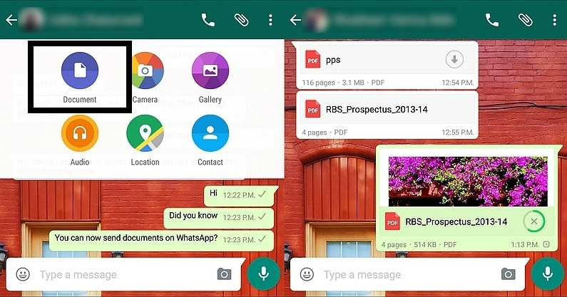WhatsApp Latest Update Send Documents Over Chat
