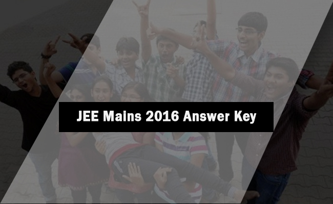 JEE Mains 2016 Answer Key PDF