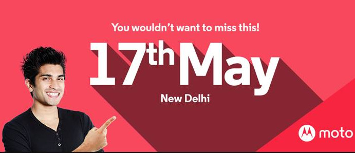 Motorola,India event invite May 17 2016