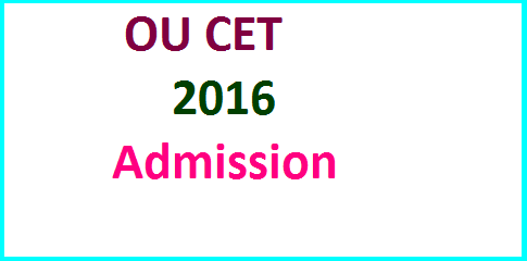 Download OUCET Application Form 2016 for PGCET Common Entrance Test of Osmania University