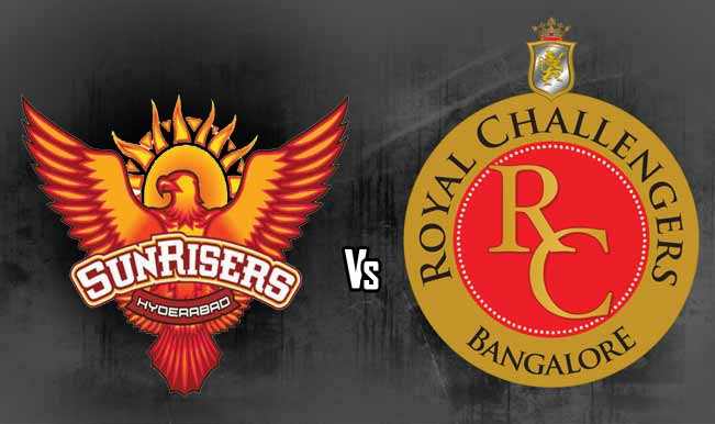SRH Vs RCB 27th Match Live Scorecard Vivo IPL 9 2016 Ball By Ball Result Highlights