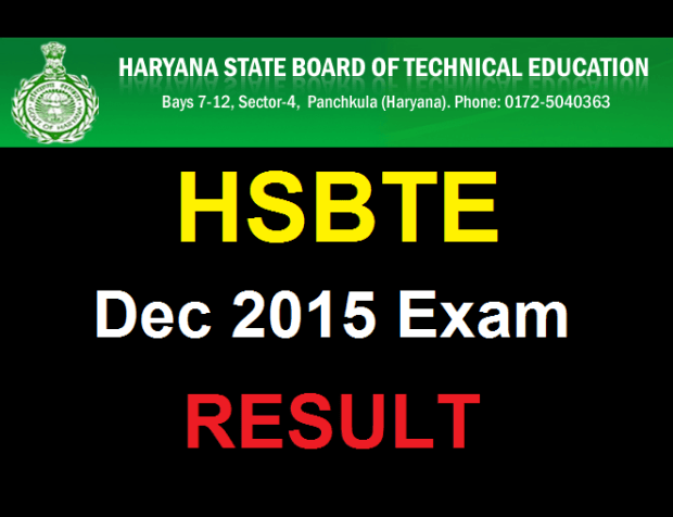 hsbte result 2015 December exam