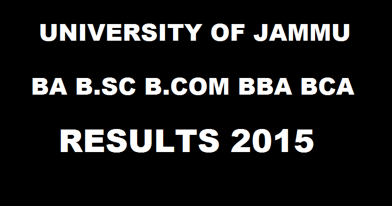 Jammu university result 1st semester Examination