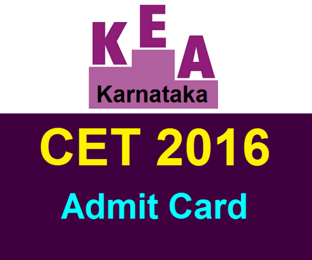 Download Karnataka CET Admit Card 2016 KCET Exam Hall Ticket