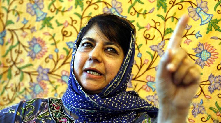 PDP president Mehbooba Mufti Adressing a Press Conference at her Gupkar Residence in Srinagar on August 09.2011 *** Local Caption *** PDP president Mehbooba Mufti Adressing a Press Conference at her Gupkar Residence in Srinagar on August 09.2011.PHOTO BY SHUAIB MASOODI