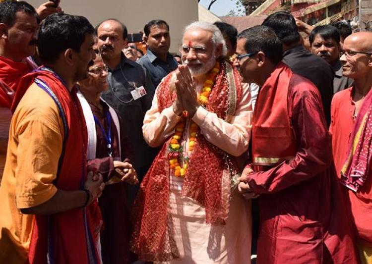 PM Naredra Modi offers Navratri prayers at Kamakhya Temple in Assam