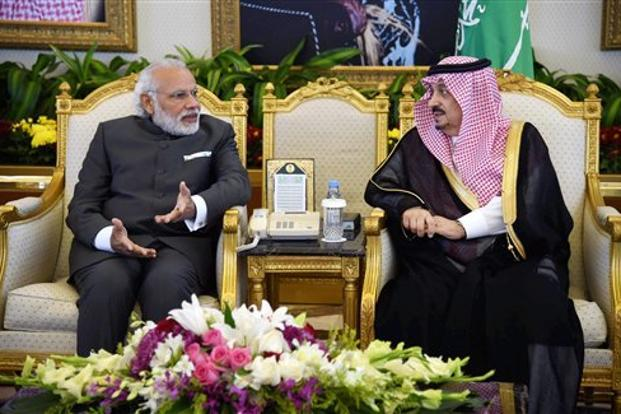 PM Narendra Modi arrives in Saudi Arabia at AI Saud Palace in Riyadh