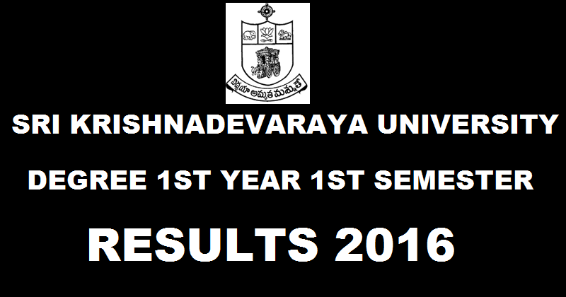 SK University 1st Year 1st Semester 2016 Result Declared SKU Degree Results