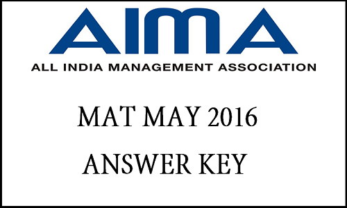 AIMA MAT Exam Answer Key 2016 Check Merit List @ aima.in