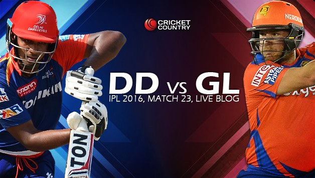 Vivo IPL 9 DD Vs GL 31st Match Live Score Scorecard Results Highlights 3rd May 2016