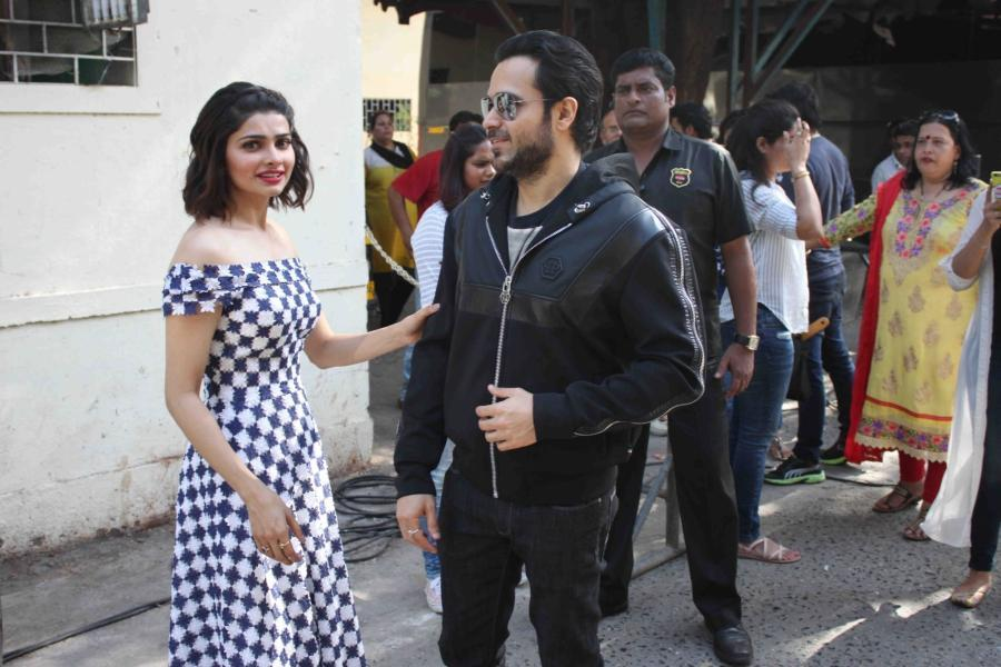 Mumbai: Actors Emraan Hashmi and Prachi Desai arrive for the promotion of film Azhar at the sets of &TV dance show So You Think You Can Dance, in Mumbai on May 3, 2016. (Photo: IANS)