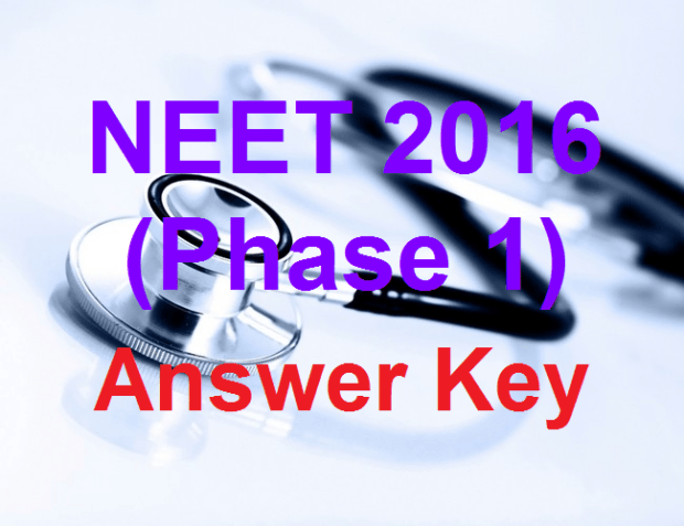 Answer Key of AIPMT NEET Phase 1 Exam 2016 Check Merit List @ aipmt.nic.in